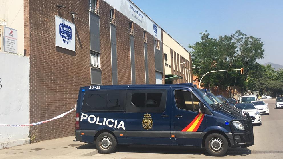 Registro policial en el marco de la 'operación Enredadera'. (Foto: Europa Press)
