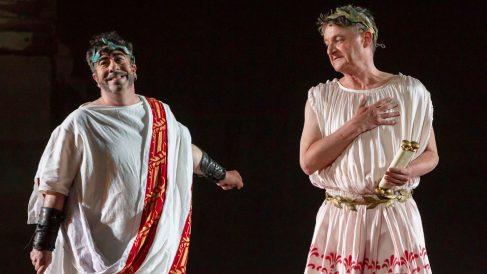 'La historia jamás contada de Ben-Hur', durante la 64 edición del Festival Internacional de Teatro Clásico de Mérida. (Foto: EFE)