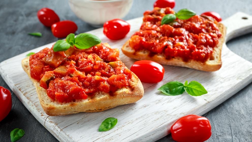 Receta de tostadas con tomate