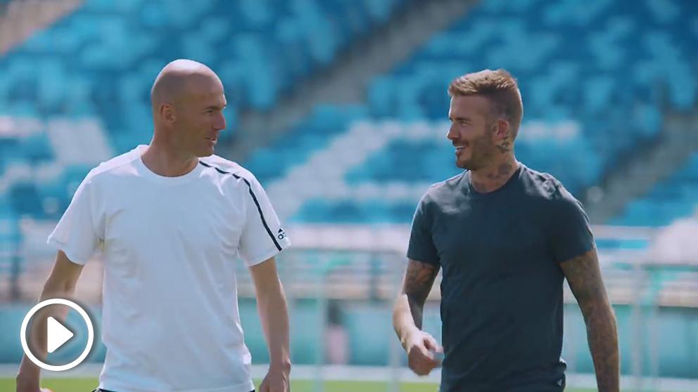 Zinedine Zidane y David Beckham.
