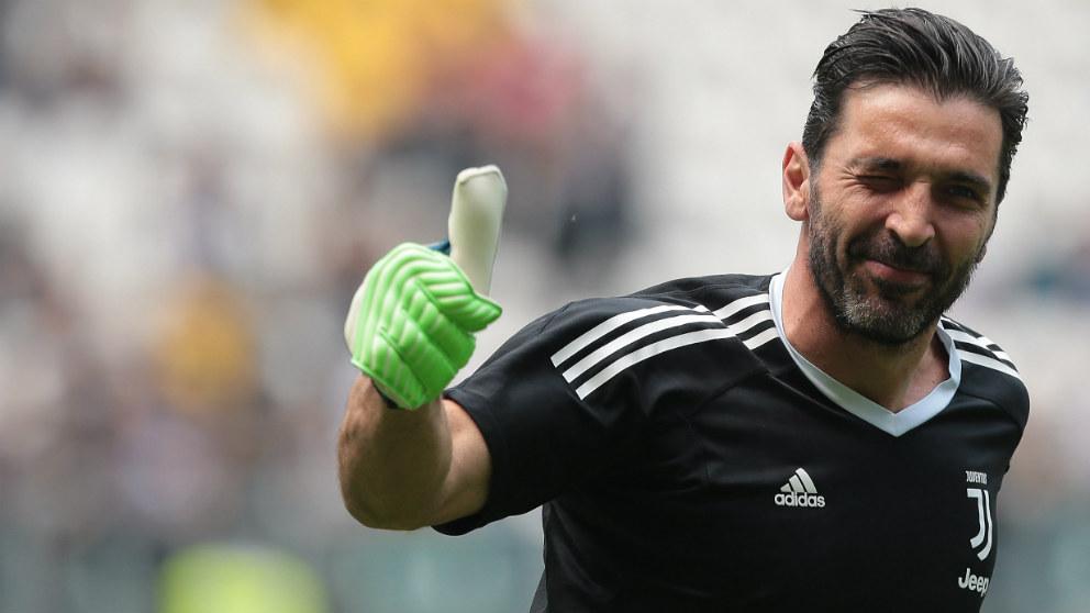 Buffon, en su último partido con la Juventus. (Getty)