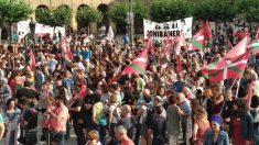 Manifestación a favor de la amnistía de los presos de ETA en Pamplona.