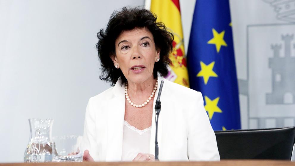 Isabel Celáa, portavoz del Gobierno. (Foto: EFE)
