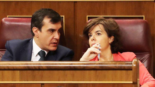 José Luis Ayllón y Soraya Sáenz de Santamaría