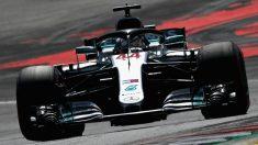 Lewis Hamilton ha comenzado fuerte el Gran Premio de Gran Bretaña de Fórmula 1 liderando la primera sesión de entrenamientos libres. (Getty)