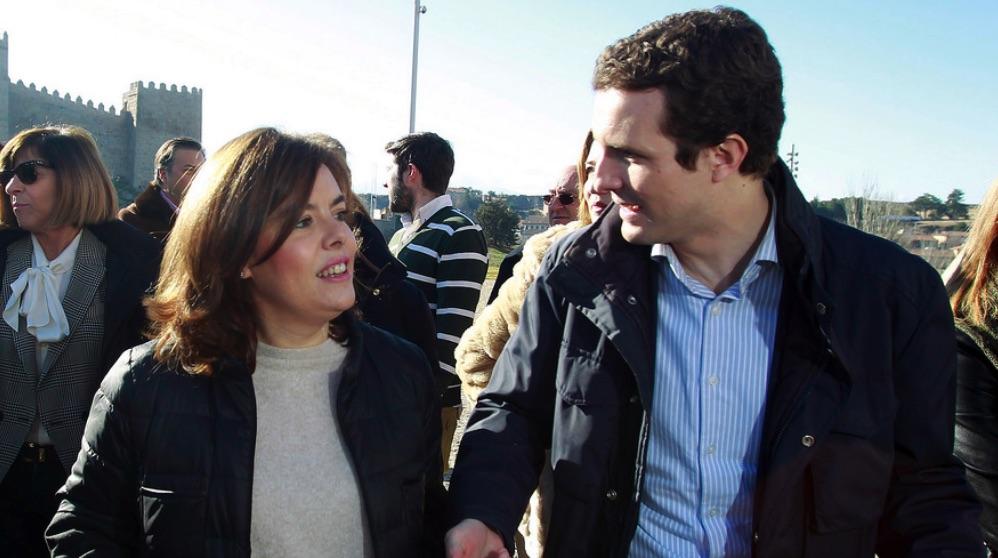 Pablo Casado y Soraya Sáenz de Santamaría. (Foto. PP)
