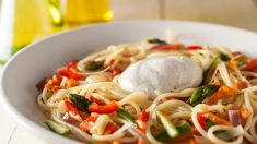 Receta de espaguetis con verduras fácil de preparar paso a paso
