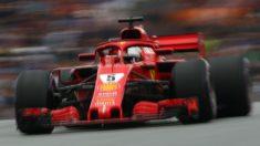Sebastian Vettel ha marcado el mejor tiempo en la segunda sesión de entrenamientos libres del GP de Gran Bretaña de Fórmula 1, con Alonso en un gran sexto lugar. (Getty)