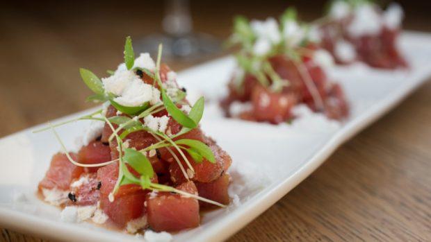 Tapa de atún con salsa de soja