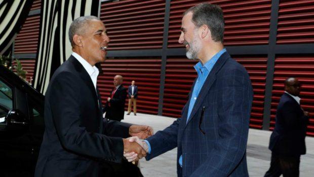 Barack Obama y Felipe VI en el Reina Sofía. Foto: Casa Real