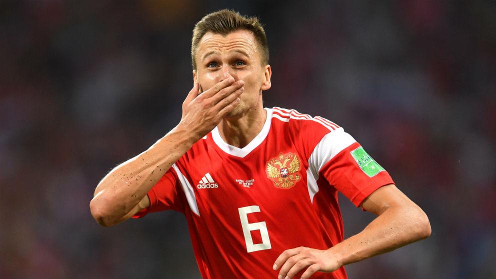 Cheryshev celebra su gol a Croacia. (Getty)