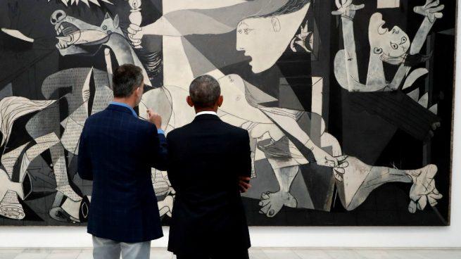 El Rey Felipe VI y Barack Obama ante el