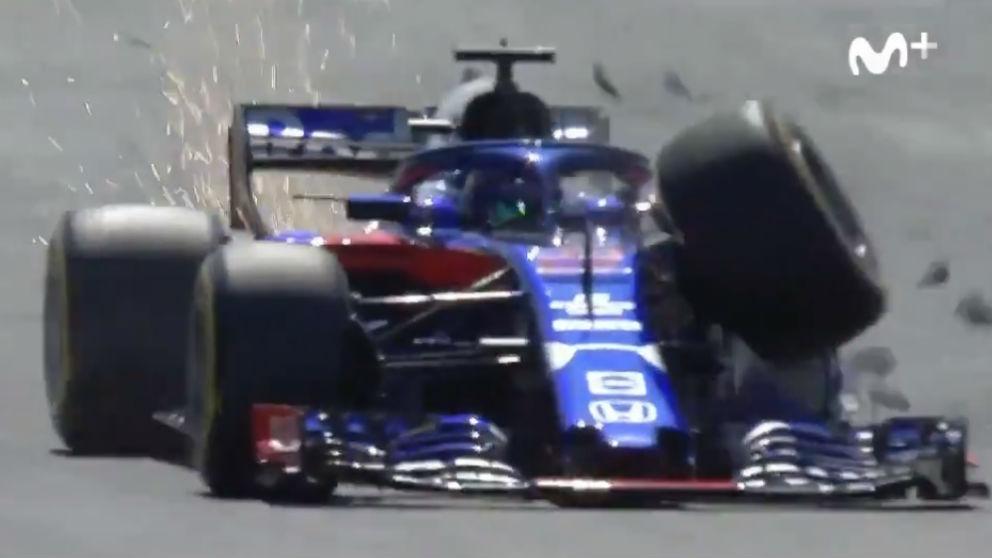 Brendon Hartley ha salido ileso de un impresionante accidente protagonizado durante los terceros entrenamientos libres del GP de Gran Bretaña de Fórmula 1.