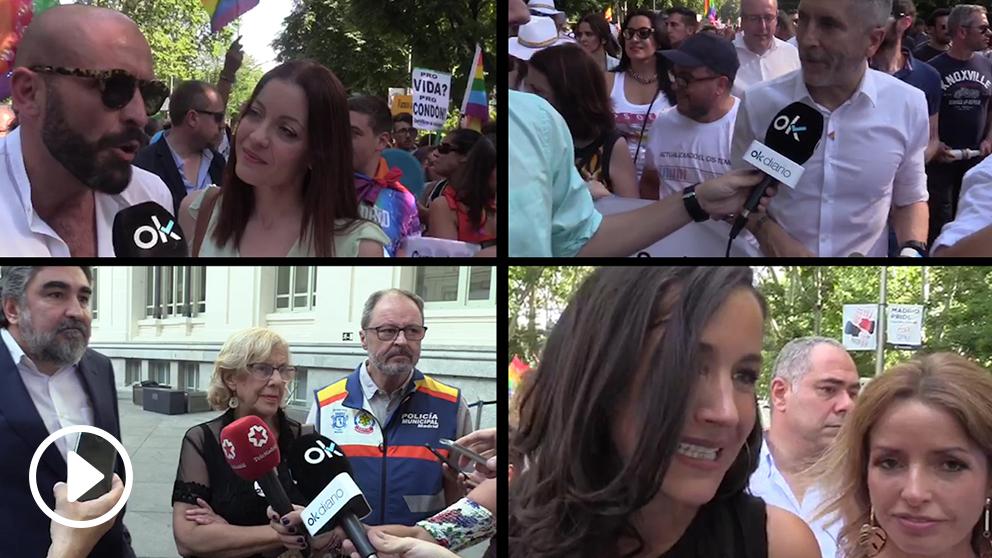 Grande-Marlaska, Carmena y Villacís valoran el veto al PP en el Orgullo