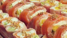 Receta de sushi de jamón y queso, un plato original