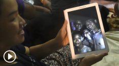Familiares de los desaparecidos en Tailandia (AFP).