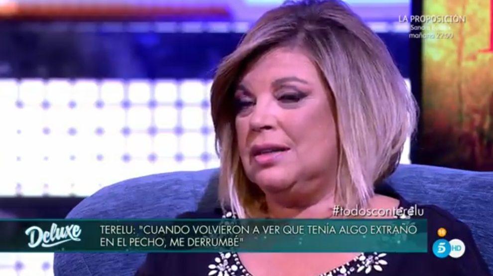 Terelu Campos cuenta la noticia en 'Sálvame Deluxe'