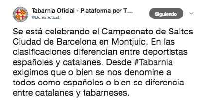 TV3 diferencia entre catalanes y españoles en el trofeo internacional de salto de trampolín