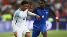 Dele Alli y Pogba durante el último Inglaterra-Francia. (Getty Images)