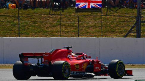 Vettel se coronó en casa de Hamilton. (AFP)