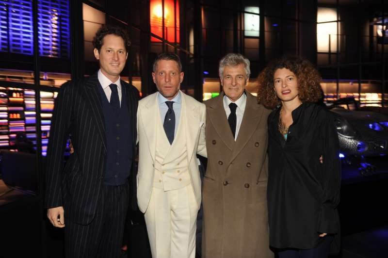 John, Lapo, Alain y Ginevra Elkann Agnelli (Foto. Italia Independent)