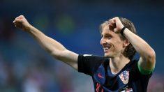 Luka Modric celebra la victoria de Croacia. (Getty)