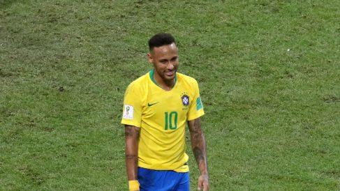 Neymar, en un partido reciente con la selección de Brasil. (Getty)
