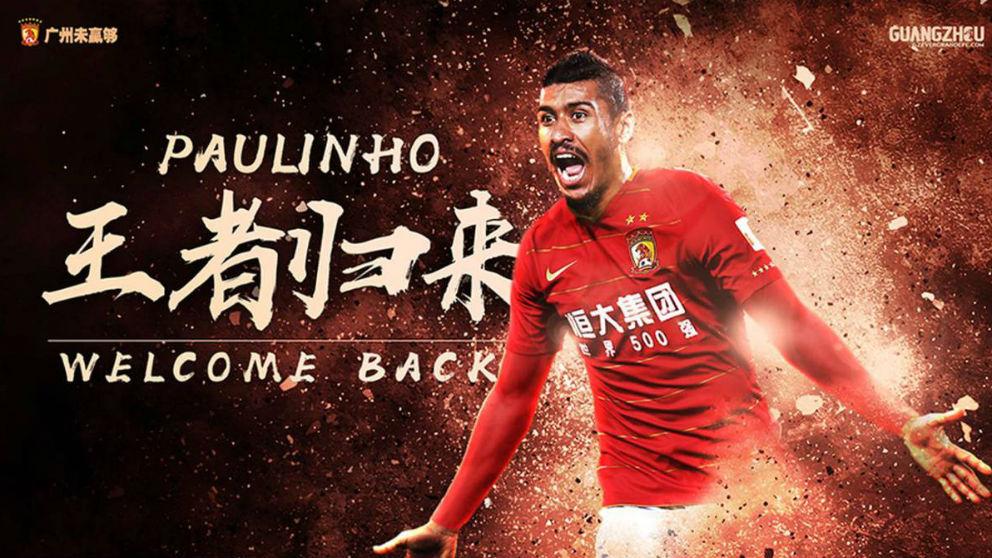 Paulinho se va a China.