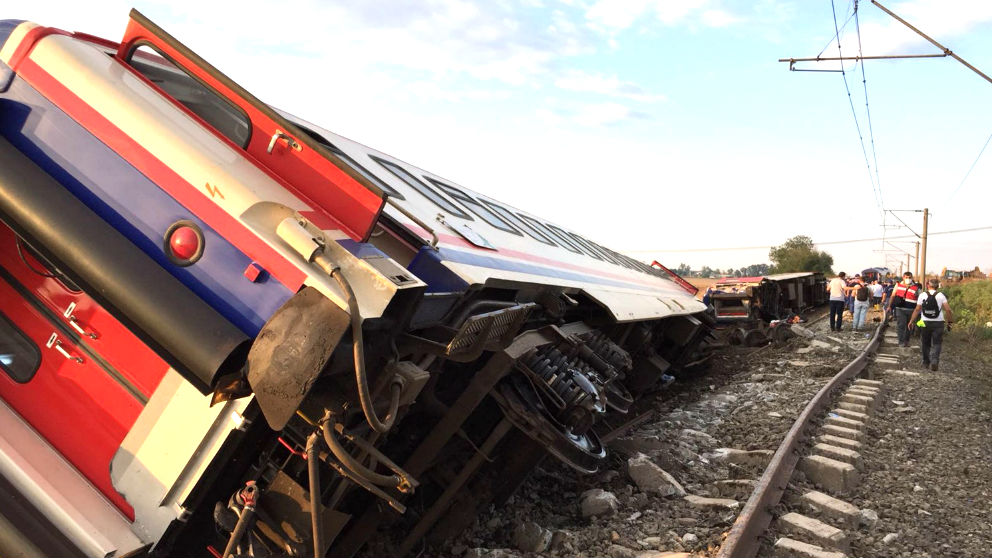 Imagen del tren accidentado (Foto: AFP).