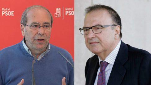 El presidente del PSM, Manuel Robles y el exdirigente socialista, Ramón Espinar Gallego.