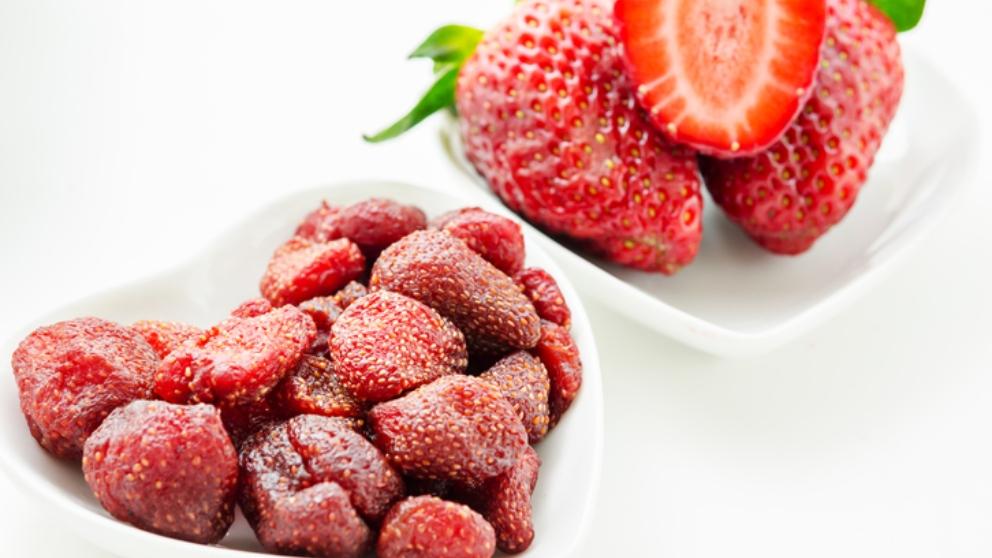 freReceta de fresas deshidratadas fácil y rápida paso a paso
