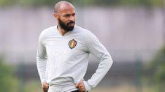 Thierry Henry, durante un entrenamiento de Bélgica. (AFP)
