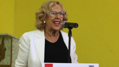 La alcaldesa Manuela Carmena en una visita reciente. (Foto. Madrid)