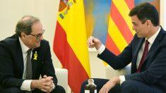 Pedro Sánchez y Quim Torra en La Moncloa. (Foto: EFE)