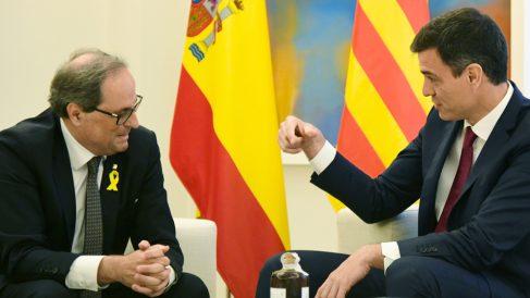 Pedro Sánchez y Quim Torra en La Moncloa el pasado julio. (Foto: EFE)
