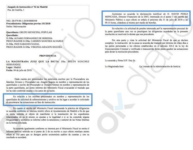 La juez rechaza el archivo de la malversación millonaria de Bicimad que acorrala a Carmena