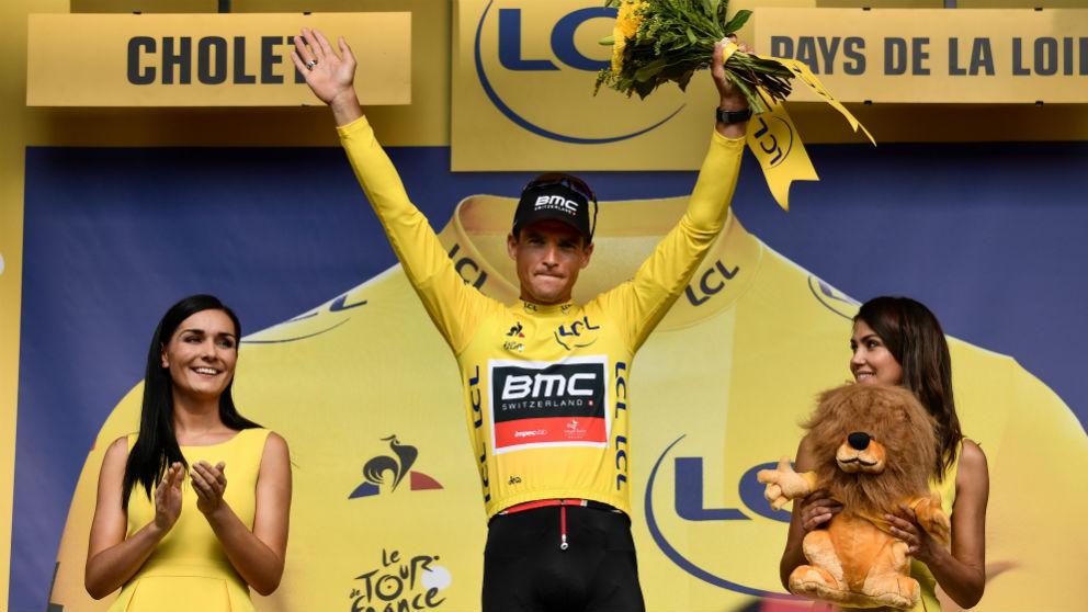 Greg Van Avermaet es el nuevo líder del Tour de Francia. (AFP)