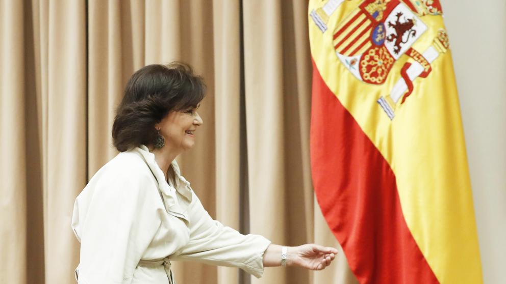 Carmen Calvo, vicepresidenta del Gobierno. (Foto: EFE)