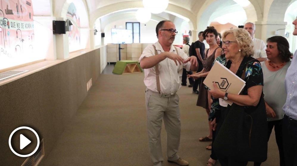 Carmena en la inauguración este martes de la Quinta de los Molinos. (Foto. Madrid)