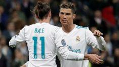 Cristiano Ronaldo y Bale. (Getty)