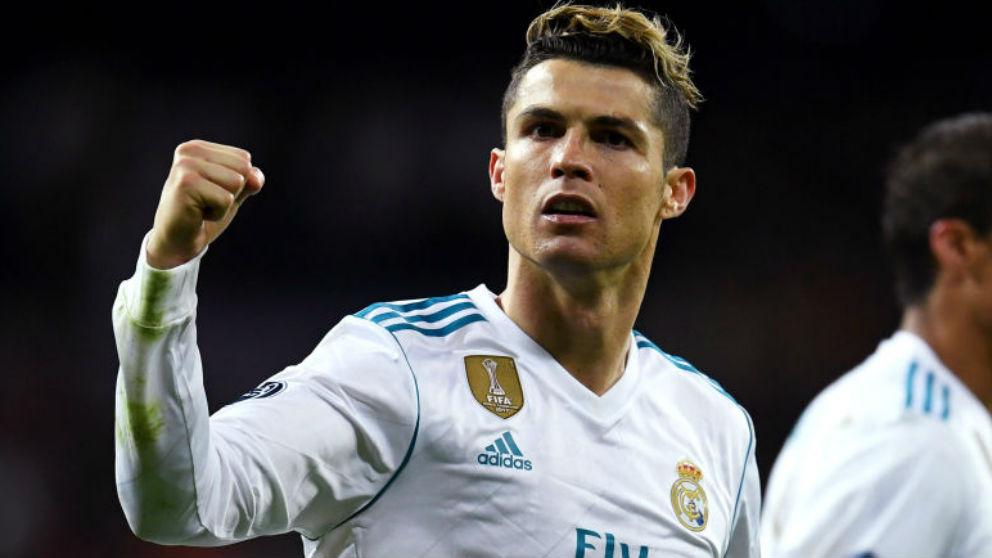Cristiano Ronaldo celebra un gol con el Real Madrid. (Getty)