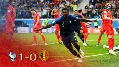 Un vuelo de Umtiti metió a Francia en la final del Mundial de Rusia.