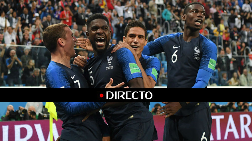 Francia se clasifica para la final del Mundial 2018 (Getty)   Francia – Bélgica   Semifinal Mundial de Rusia 2018