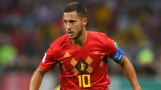 Eden Hazard, en un partido con Bélgica en el Mundial 2018. (Getty)