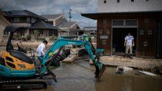 Lluvias torrenciales en Japón (AFP).