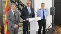 Miquel Esquius (a la derecha) en una rueda de prensa con el conseller Buch (Europa Press).