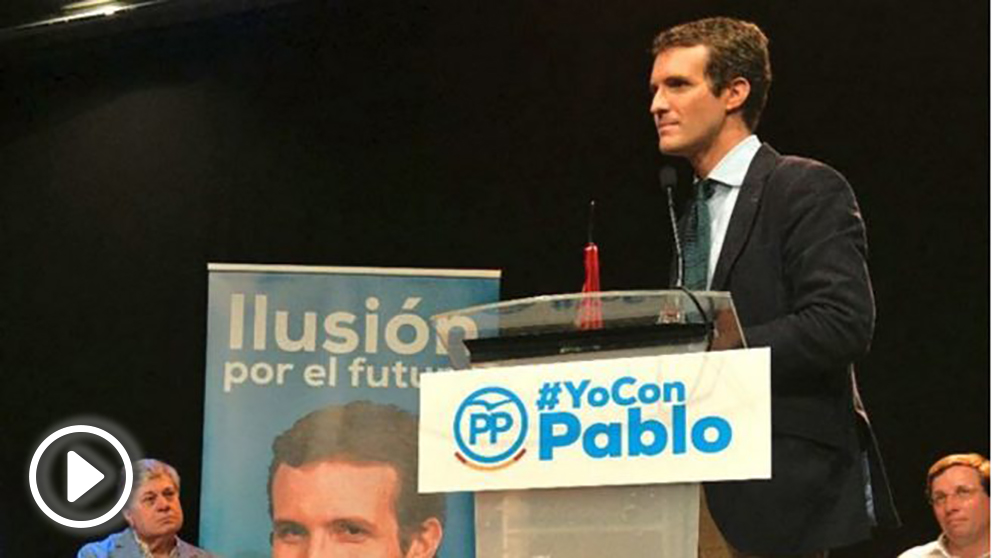 Pablo Casado este martes en Madrid (RRSS).