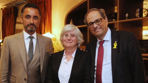 Torra con Ponsatí y su abogado (RRSS).
