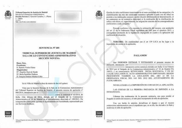 Sentencia del TSJM sobre la normativa fiscal de Ramón Espinar Gallego en el Ayuntamiento de Fuenlabrada.