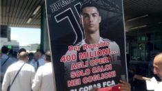 Los trabajadores de FIAT van a la huelga por el fichajes de Cristiano Ronaldo. (Twitter)